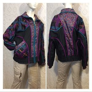 Vintage 80's Full Zip Windbreaker Jacket